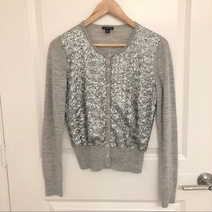 Ann Taylor Sequined Cardigan Sweater